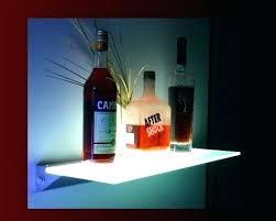 led glass shelves shelf light clip set
