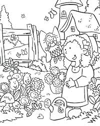 Flower Garden Coloring Pages Download Flower Garden Coloring Pages
