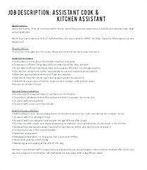 Cook Job Description For Resume Extraordinary Duties And Responsibilities Of Executive Chef Pdf Job Description A