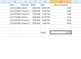 timecard hours select time cells free excel tutorial how to calculate overtime