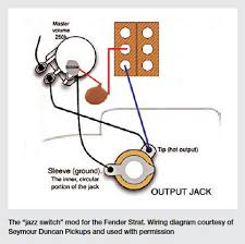 the stratocaster jazz switch mod guitar wiring diagrams prior to fender used the following wiring bridge pickup alone neck pickup alone and neck pickup alone an additional µf cap engaged