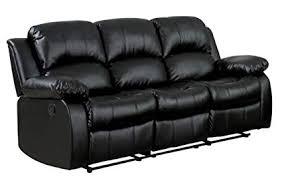 black leather reclining sofa. Plain Reclining Homelegance Double Reclining Sofa Black Bonded Leather Inside Sofa L