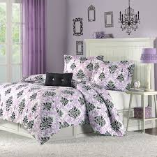 Lavender And Black Bedroom Black And White And Purple Bedding