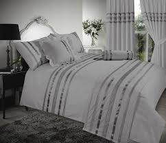 grey silver stylish sequin duvet cover luxury beautiful glamour