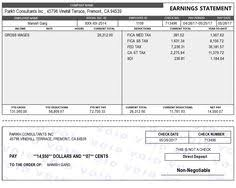 Free Canadian Pay Stub Template Paystubs Templates Resume