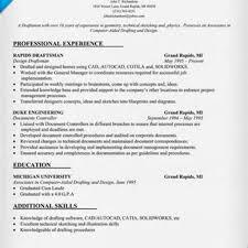 Resume Templatesrafting Examples Of Resumes Autocad Draftsman Resume