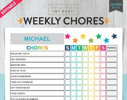 Toddler Chore Chart Template 30 Family Chore Chart Template Simple Template Design