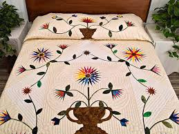 Compass Gardens Quilt -- terrific smartly made Amish Quilts from ... & Extraordinary Compass Gardens Applique Quilt Photo 1 ... Adamdwight.com