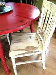 red dining table set kitchen chairs distressed round country with