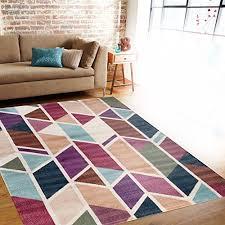 Modern Geometric Design Multi Color Soft Indoor Area Rug 7'10 x 10'2