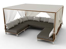 daybed sofa. Bermudafied Modern Teak White Black Aluminum Luxury Outdoor Furniture Design Daybed Sofa Curtain Retractable Roof Hotel