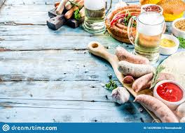 Different Bbq Picnic Party Food With Beer Stock Photo - Image of cooking,  rosemary: 144295584