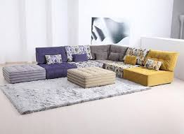 Welcoming Living Room with Floor Couch Mix-and-Match