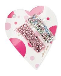 tonal swarovski crystal hair clip set