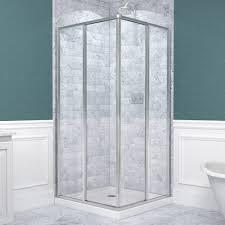 framed sliding shower doors. DreamLine Cornerview Framed Sliding Shower Enclosure And SlimLine 36\ Doors L