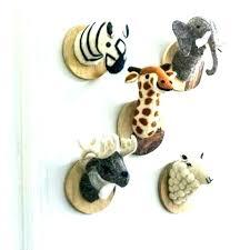stuffed animal head wall decor heads for mount nursery plush kids room ideas mo curtains i