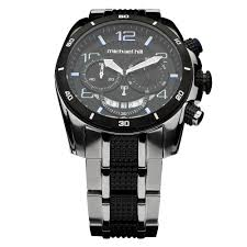 mens watches michael hill nz men s chronograph watch in black silver stainless steel