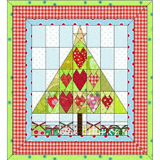 50 best Quilt Design Wizard Projects images on Pinterest   Quilt ... & Cute Christmas tree quilt decorated with hearts with presents underneath!  Available for EQ7, EQ6 Adamdwight.com