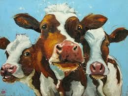 cow painting 480 30x40 inch original oil painting by roz