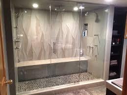 frameless steam shower enclosure
