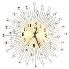 wall clock crystal wall clock large rhinestone hanging home kitchen office decoration clocks crystal wall