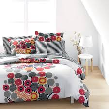 marimekko annansilmä white red grey duvet set
