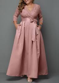 Modlily Size Chart Plus Size V Neck Lace Panel Dress Modlily Com Usd 36 97