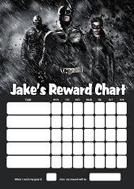 Personalised Batman Reward Chart Adding Photo Option Available
