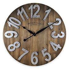 image of FirsTime Slat Wall Clock in Wood
