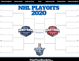 Hockey Playoff Standings Chart Printable Nhl Playoff Bracket 2020