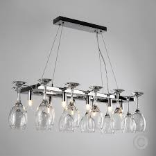 Kitchen Ceiling Light Fittings Modern 8 Way Chrome Wine Glass Rack Chandelier Suspended Ceiling