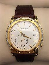 wittnauer watch for men 6199101 white dial wittnauer white sub dial second hand gold case brown leather 12e19 men s watch
