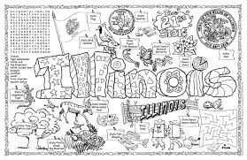 Small Picture Gallopade International Illinois Symbols Facts FunSheet Pack