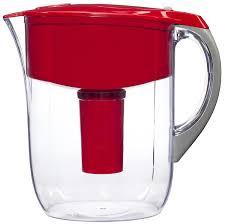 brita water filter. Brita Grand Water Filter Pitcher, Red, 10 Cup