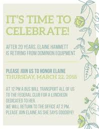 Liz Sobol Retirement Luncheon Invitation