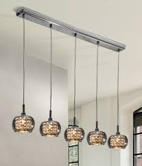smoked glass crystal five light flush ceiling wall lights also available