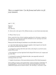 Letter Residency Verification Letter Template
