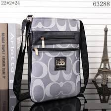 Coach Legacy Swingpack In Signature Large Gray Crossbody Bags 10009