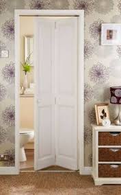 4 Panel Clear Pine Bi-Fold Love the Wall Paper! In bathroom on one wall idea