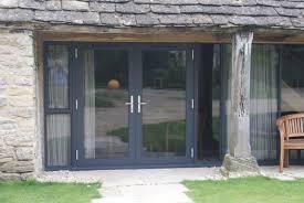 alitherm aluminium patio doors in matt black