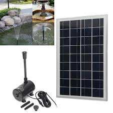 20w solar power fountain garden submersible 1600l h water pump with solar panel outdoor pond