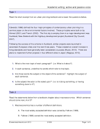 Academic Writing Active And Passive Voice