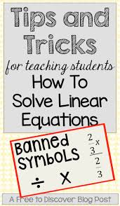 solving linear equations is an immensely important skill for middle and high school students to master 8th grade matheighth