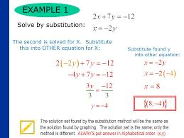 solving a system of equations by substitution 3 example