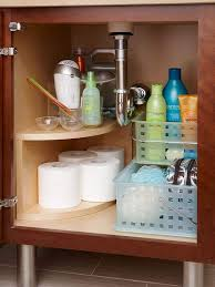 bathroom under sink storage ideas. Install A Curved Multitier Storage Unit Along The Undersink Plumbing. Free Up Space For Everyday Bathroom Under Sink Ideas E