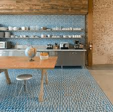 modern kitchen floor tile. Encaustic Wall And Floor Tile In A Modern Kitchen