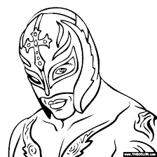 Rey Mysterio Coloring Page Projects To Try Wwe Coloring Pages