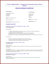University Student Resume Template Free Resume Example And