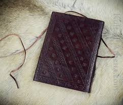 leather bound celtic mythic dragon journal