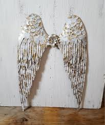on metal wall art shabby chic with large metal shabby chic angel wings nursery wall decor gold
